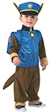 Rubie's Costume Toddler PAW Patrol Chase Child Costume, One Color, 1-2 Years, Chase Costume