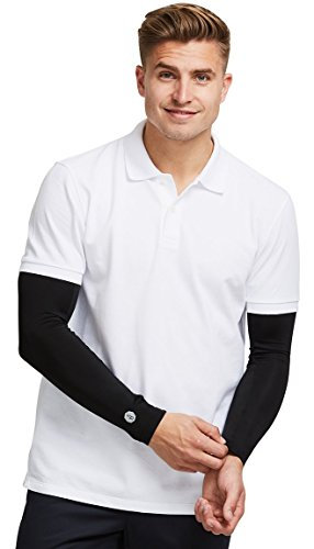 Solbari UPF 50+ Sun Protection Arm Sleeves CoolaSun Collection - Large/X-Large/Black/Without Thumbholes - UV Protection, Sun Protective