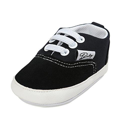 MagiDeal Zapatos Pre-andadores Antideslizantes Bebé Niño Suaves Pesebre Infantil Ajustable Accesorio - Negro, S
