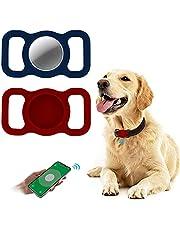2 Kawałki Silikonowe Etui Ochronne na Airtag,Woffoly Lekki Uchwyt na Pętlę do Śledzenia GPS,Odporny na Zarysowania Ochraniacz Skóry Kompatybilny z Airtag na Obrożę dla Psa i Kota,Torbę Szkolną