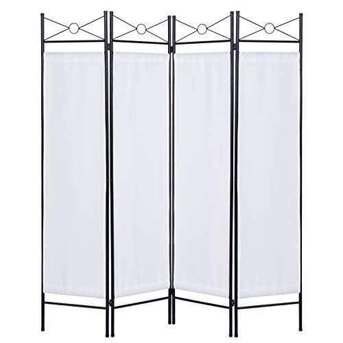 Best Choice Products SKY3027 Home Accents 4 Panel Room Divider, White