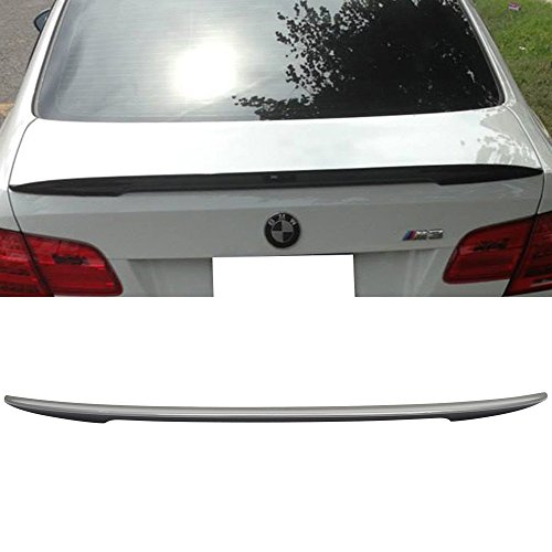 (Pre-painted Trunk Spoiler Fits 2007-2013 BMW 3-Series E92 | P Style ABS Painted # A52 Space Gray Rear Tail Lip Deck Boot Wing Other Color Available By IKON MOTORSPORTS | 2008 2009 2010 2011 2012)