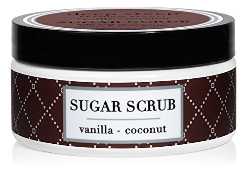 Deep Steep Sugar Scrub, 8 Ounce (Vanilla Coconut) (Brown Sugar Coconut Oil Scrub)