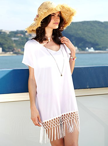 Collection Chiffon Fringe Beachwear Swimsuit