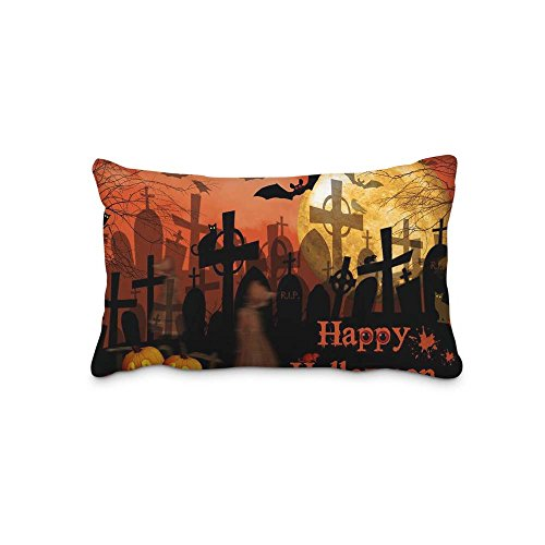 16x24inch Pillow Protector Festival Halloween Pillow Cover Home Decorative Kids Gift Pillow Cushion Cover(Twin Sides)