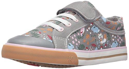 See Kai Run Kristin Sneaker (Toddler/Little Kid), Gray/Woodland Print, 4 M US Toddler
