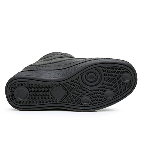 Affinest Verborgen Wiggen Voor Dames Enkellaarzen Hoge Top Mode Sneakers Plateau Casual Wandelschoenen Zwart