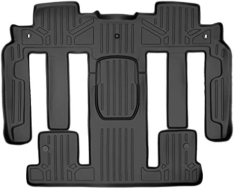 MAXLINER 2nd Row Black Floor Mat Set Compatible With 2009-2017 Chevy Traverse/2008-2017 Buick Enclave /2007-2010 Saturn Outlook/2007-2016 GMC Acadia/2017 GMC Acadia Lmtd (Old Body)(2nd Row Buckets)