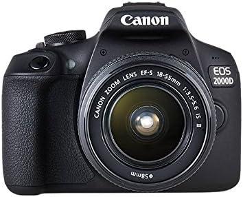 Canon EOS 2000d 18 – 55 IS See cámara, Negro: Amazon.es: Electrónica