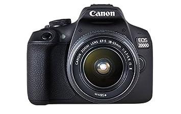 Canon EOS 2000d 18 - 55 IS See cámara, Negro: Amazon.es: Electrónica