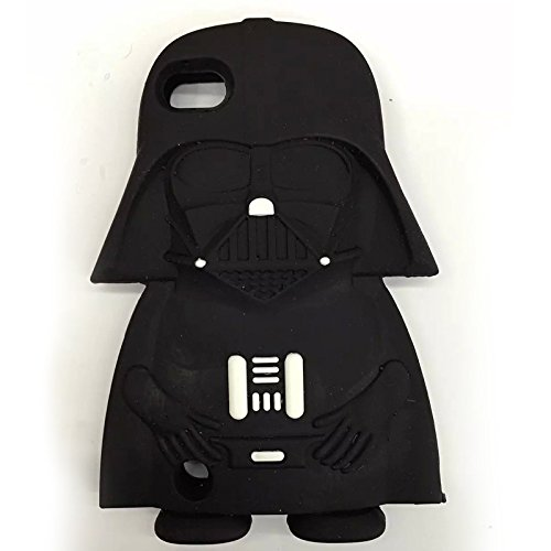 Bukit Cell Bundle 3 items;3D Cartoon Hero Star Wars Collector Slicone Cute Lovely Fun Case Protector Cover (for Ipod Touch 6 6th -Darth Vader) , Screen protector and Bukit Cell Metallic stylus (Star Wars Case)