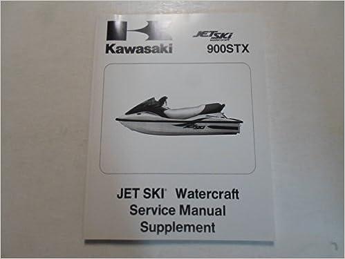 2001 kawasaki 900stx 900 stx jet ski watercraft service manual supplement:  kawasaki: amazon com: books