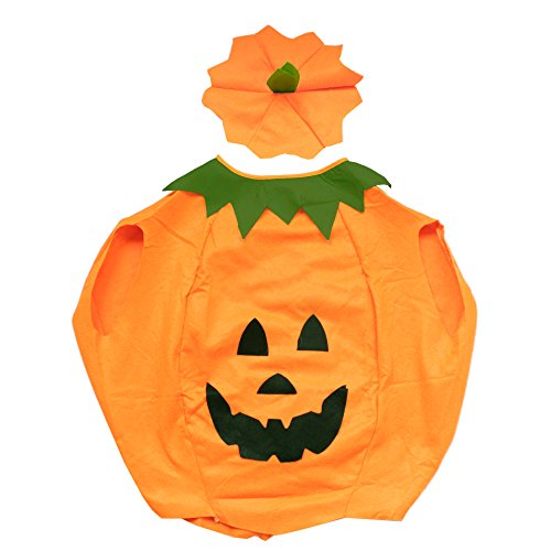 [Children Halloween Pumpkin Costumes Party Fancy Dress Clothes Outfit for Kids] (Family Themed Fancy Dress Costumes)