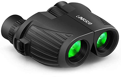 Lightweight Binoculars with Low Light Night Vision, High Power 10X25 Mini Compact Binoculars for Kids Adult Bird Watching, Telescope for Travel Camping Hunting Concert Sport