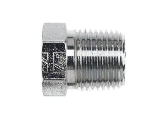 Brennan 5406-P-06-SS Stainless Steel Pipe Fitting, Hex Head Plug, 3/8