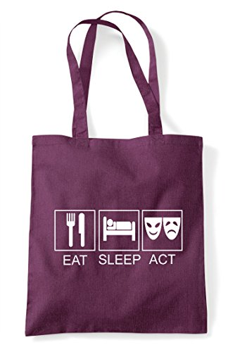 Eat Bag Sleep Act Shopper Tote Plum TwTrtxd