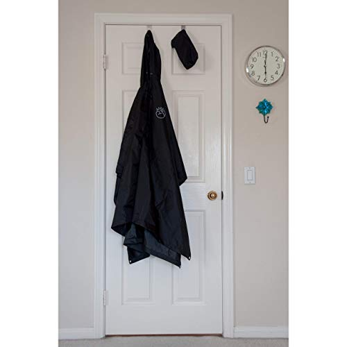 SUNGJAM Rain Poncho with Travel Pouch | Two Over Door Metal Hooks for Drying by SUNGJAM (Image #2)