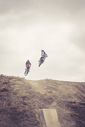 Home Comforts LAMINATED POSTER Jump Motocross Dirtbike Dirt