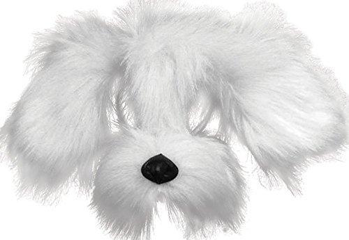 White Shaggy Dog Mask With Sound