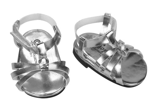 Silver Doll Sandals fit 18 inch Dolls