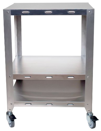 Cadco OV-HDS 2-Oven Heavy-Duty Stand with Wheels for Half or Quarter Size Cadco Ovens, Stainless by Cadco