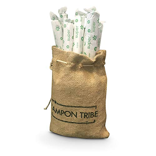 [Tampon Tribe] 100% Certified Organic Super Applicator Tampons, Hypoallergenic, Leak Free, Chemical Free Tampons (28 ()