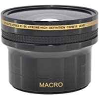 58MM 0.14x Pro HD Wide Angle Lens fisheye CANON HFG40 HFG30 XF100 XA35 XC15 XA25 XF105 XA20 XA25 + A&R Microfiber Lens Cleaning Cloth