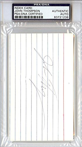 John Thompson Autographed 3x5 Index Card Georgetown University #83721238 PSA/DNA Certified MLB Cut Signatures