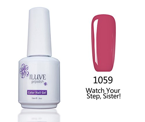 iLuve Long Lasting Soak Off Nail Polish with 238 Color Choices, 1 bottle with 15ml of UV Gel Polish, Watch Your Step, Sister! Color #1059