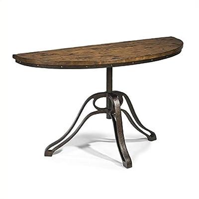 Magnussen Cranfill Demilune Sofa Table in Aged Pine