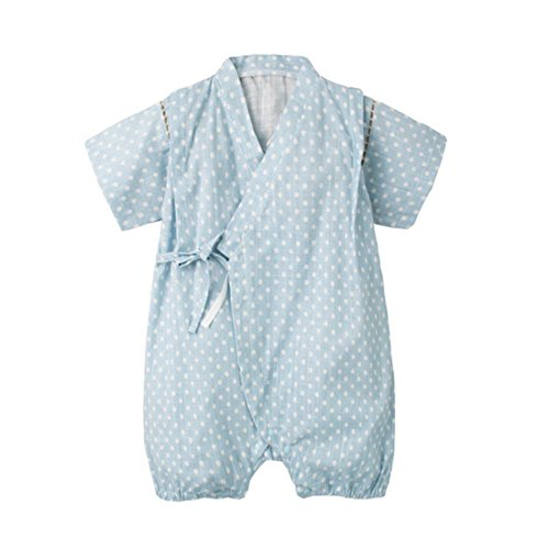 - PAUBOLI Japanese Kimono Style Baby Rompers Bathrobe Pajamas Infant Cotton Comfy Loose Bodysuit (3-9 Months, 07)