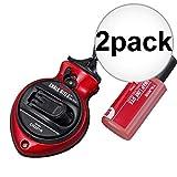 2 Pack Tajima CR201R-PR Red Chalk-Rite II GearDrive Extra Bold Fast-Wind Chalk Snap-Line with Dark Red Snap Line Dye
