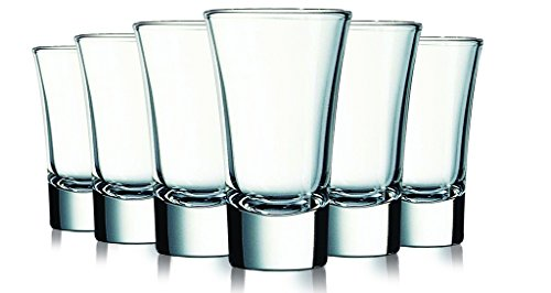 - Clear Colored Evase Cordial Glasses - 2 oz. set of 6- Additional Vibrant Colors Available