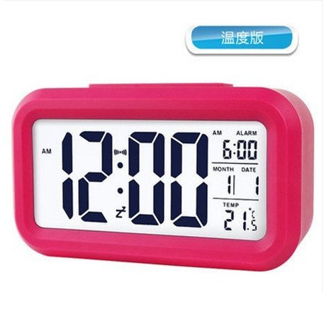 HOMEE Clock-large screen display creative personality bedside lcd alarm clock electronic clock,B by HOMEE
