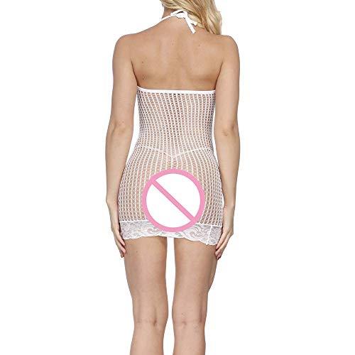 Transparent Damen Kleid Frauen Hohl Perspektive Unterwäsche Mesh c1lFK35uTJ