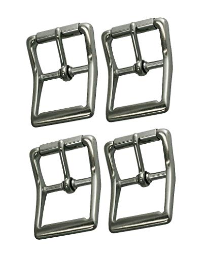 Multi-Pack of Stainless Steel #150 Roller Buckles, Pack of 4 Buckles, Great for Marine, Outdoor, and Tack Applications, Will Not Rust (1 1/4