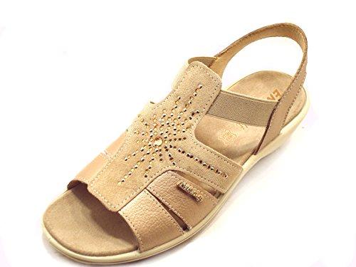 Sandalo Taupe Zeppa Art79733 Enval Donna Soft 0xvwCq8fn1