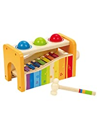 Hape Pound & Tap Bench with Slide Out Xylophone BOBEBE Online Baby Store From New York to Miami and Los Angeles