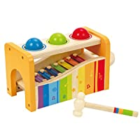 Award Winning Hape Pound & Tap Bench with Slide Out Xylophone