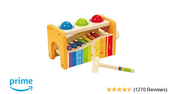 d673f6f55 Amazon.com  Hape Pound   Tap Bench with Slide Out Xylophone - Award ...
