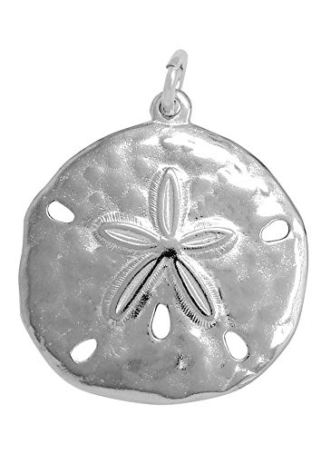 Raposa Elegance Sterling Silver Sand Dollar Charm (Approximately 20.5 mm x 22 mm)