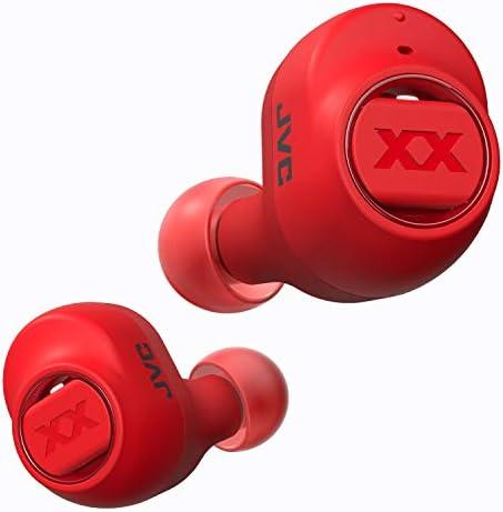 JVC HA-XC50T-R XXシリーズ 完全ワイヤレスイヤホン 本体質量5.6g小型軽量ボディ/最大14時間再生/防水・防塵・耐衝撃のタフボディ/Bluetooth Ver5.0対応/レッド