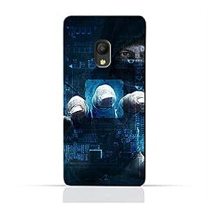 AMC Design Pixi4 5.0 4G TPU Silicone Protective case with Dangerous Hacker Design