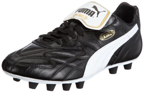 PUMA King Top K di Firm Ground, Men's Football Competition Shoes, Black (Black/White/Team Gold), 6 UK (39 EU)
