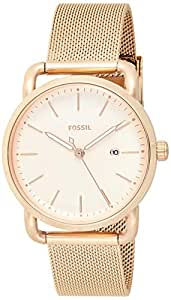 Fossil Womens Quartz Watch, Analog Display and Stainless Steel Strap ES4333