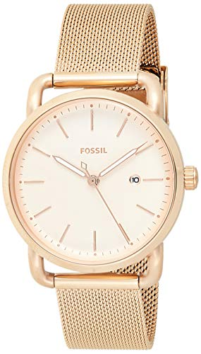 Fossil Women's Commuter Stainless Steel Mesh Casual Quartz Watch