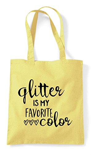 Bag Is Glitter Shopper Tote Statement Favourite Lemon Crafty Colour My B00vq