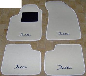 Set completo di Tappetini Artigianali in Moquette e su Misura con Ricamo a Filo Tappeti per Auto