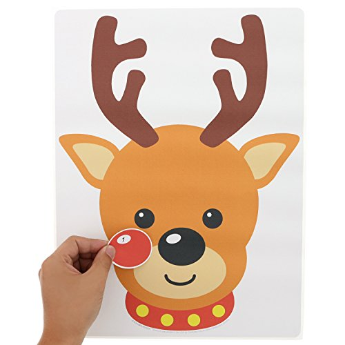 Stickamajigger Stick the Red Nose on the Reindeer Poster Game - Restickable Reusable]()