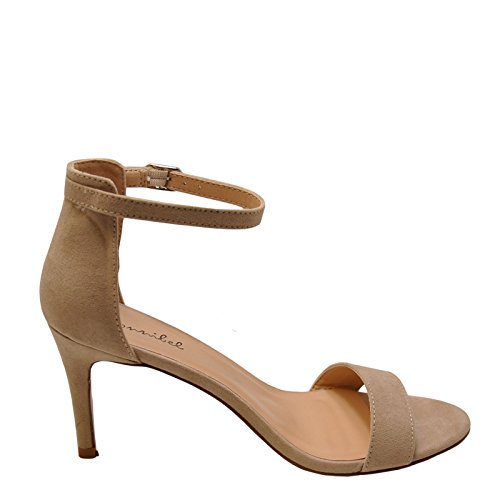 Bonnibel Elena 1 Womens Single Band Ankle Strap Heels Natural K1qkyc3BOC